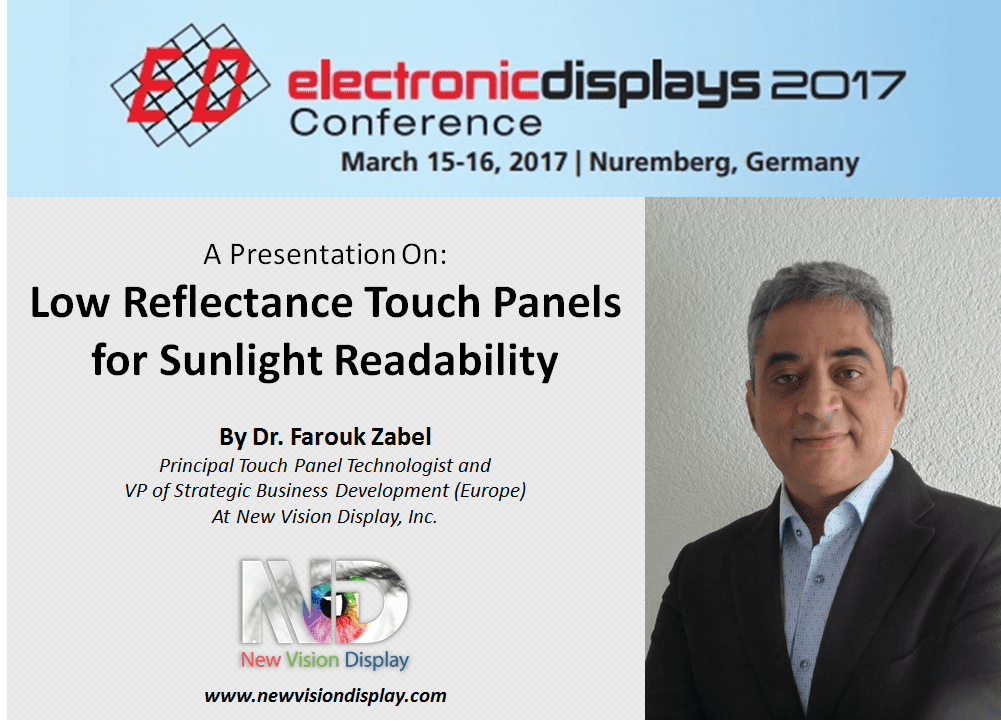 Low Reflectance Touch Panels Presentation